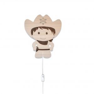 Cowboy væglampe