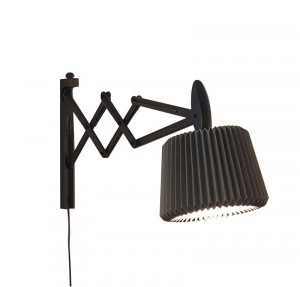 Saxlampe 223 Sortbejdset Eg