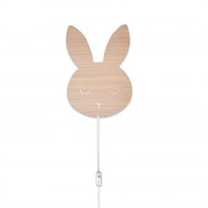 Sleepy bunny væglampe